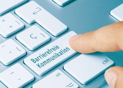 Barrierefreie Kommunikation Taste auf Tastatur